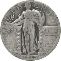 1930 S STANDING LIBERTY QUARTER 90 SILVER ABOUT GOOD AG