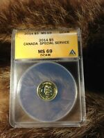 CANADA 2014 SPECIAL SERVICE FORCE $5 GOLD ANACS MINT STATE 69 DCAM