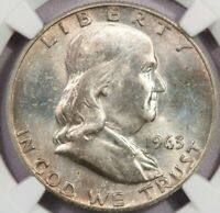 1963-D 1963 FRANKLIN HALF DOLLAR NGC MINT STATE 64