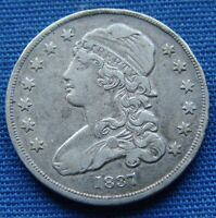 NICE LOOKING 1837 CAPPED BUST QUARTER   ESTATE FRESH