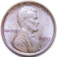 1910 LINCOLN WHEAT SMALL CENT PENNY BU DETAILS SHIPS FREE E672 WCC
