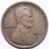 1915-D LINCOLN WHEAT CENT PENNY CHOICE VF/EXTRA FINE  SHIPS FREE E689 AF