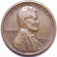 1924-S LINCOLN WHEAT CENT PENNY CHOICE EXTRA FINE  SHIPS FREE E719 SF