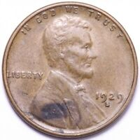 1929-S LINCOLN WHEAT CENT PENNY CHOICE AU SHIPS FREE E780 AM