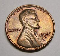 9 COLOR-TONED WHEAT CENTS: 1950PD 1951D 1952D 1953DS 1955D BIE ERROR 1956D 1957D