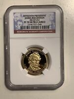 NGC 2010-S PROOF JAMES BUCHANAN 15TH PRESIDENTIAL DOLLAR PF70 US MINT $1 COIN