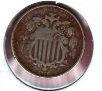 1866 SHIELD NICKEL GRADES  GOOD READ REPUNCHED DATE FS-304  C2947