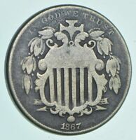 1867 SHIELD NICKEL   CHARLES COIN COLLECTION  597