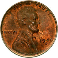 1948 S LINCOLN WHEAT CENT ABOUT UNCIRCULATED PENNY AU