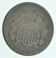 1865 TWO CENT PIECE   WALKER COIN COLLECTION  906