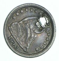 1843 SEATED LIBERTY HALF DIME   HOLED COIN COLLECTION  884