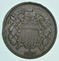 1867 TWO CENT PIECE   CHARLES COIN COLLECTION  680