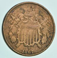 1867 TWO CENT PIECE   CHARLES COIN COLLECTION  653