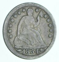 1854 SEATED LIBERTY HALF DIME   CHARLES COIN COLLECTION  467