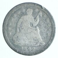 1842 SEATED LIBERTY HALF DIME   CHARLES COIN COLLECTION  457