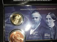 2011 HAYES PRESIDENTIAL DOLLAR AND FIRST SPOUSE LUCY MEDAL SET