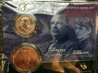 2012 CLEVELAND PRESIDENTIAL DOLLAR AND FIRST SPOUSE FRANCES MEDAL SET