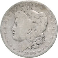 1900 S MORGAN SILVER DOLLAR  GOOD VG HARSHLY CLEANED SEE PICS D011