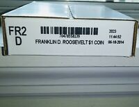2014D F. ROOSEVELT $1- UNCIRC- MINT ISSUED ROLL 25 COINS- UNOPENED BOX  FR2 D