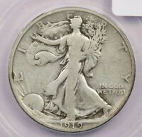 1919-P 1919 WALKING LIBERTY HALF DOLLAR ICG VG10