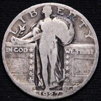 1927-D STANDING LIBERTY QUARTER CHOICE GOOD SHIPS FREE E643 AP