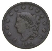 1833 MATRON HEAD LARGE CENT   WALKER COIN COLLECTION  507
