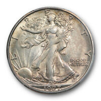 1927 S 50C WALKING LIBERTY HALF DOLLAR PCGS MINT STATE 62 UNCIRCULATED MINT STATE