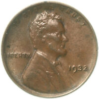 1932 LINCOLN WHEAT CENT ABOUT UNCIRCULATED PENNY AU