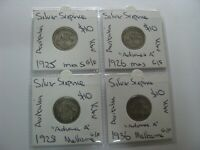 AUSTRALIA 1925 1926 1928 1936 SILVER EARLY HARDER YEARS 4 CO