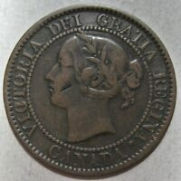 CANADA 1858 QUEEN VICTORIA BRONZE LARGE CENT COIN  KM 1