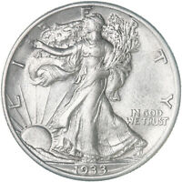 1933 S WALKING LIBERTY HALF DOLLAR 90 SILVER AU CLEANED SEE PICS E400