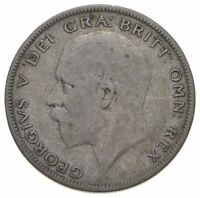 BETTER DATE   1928 GREAT BRITAIN 1/2 CROWN WORLD COIN   SILV