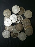LOT OF 20 CANADA 25C SILVER QUARTER DOLLARS