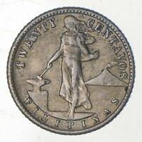 ROUGHLY SIZE OF QUARTER 1944 PHILIPPINES 20 CENTAVOS WORLD S