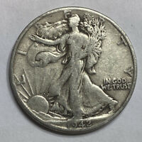 FREE SHIP 1942-D WALKING LIBERTY HALF DOLLAR -  EARLY 1900'S SILVER COIN L7