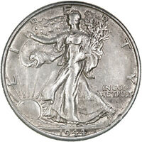 1945 S WALKING LIBERTY HALF DOLLAR 90 SILVER ABOUT UNCIRCULATED AU