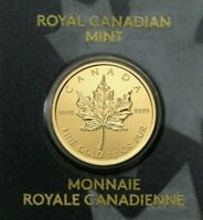 2020 CANADA 1 GRAM GOLD MAPLE LEAF .9999 FINE 50C
