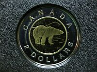 2003 CANADIAN SILVER PROOF TOONIE  $2.00    TONED/SPOT
