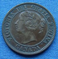 VERY NICE 1858 CANADA LARGE ONE CENT