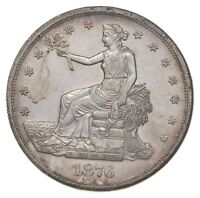 1876 S SEATED LIBERTY SILVER TRADE DOLLAR   CHARLES COIN COLLECTION  073