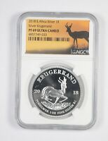 2018 SOUTH AFRICA KRUGERRAND 1 OZ SILVER NGC PF69 ULTRA CAME
