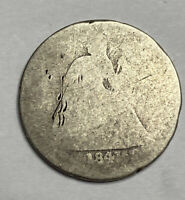 1841-O SEATED LIBERTY DIME -EARLY NEW ORLEANS TYPE COIN .900 SILVER - SEE PICS