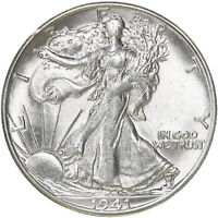 1941 S WALKING LIBERTY HALF DOLLAR 90 SILVER UN US COIN SEE PICS D386