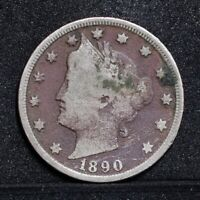 1890 LIBERTY NICKEL - VG DETAILS 31035