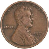 1928 D LINCOLN WHEAT CENT  FINE PENNY VF