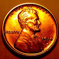 1914-S LINCOLN CENT   CHOICE BU RED  3