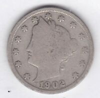 1902 LIBERTY NICKEL IN GOOD  CONDITION   STK V703