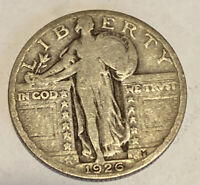 FREE SHIP 1926 STANDING LIBERTY QUARTER - 90 SILVER COIN - US TYPE COIN - SLQ