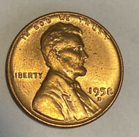 FREE SHIP RED BU 1958-D LINCOLN WHEAT CENT - GREAT TONE GEM UNCIRCULATED COIN
