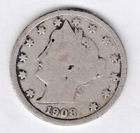 1908 LIBERTY NICKEL IN GOOD  CONDITION  PLEASE SEE THE SCAN   STK V 667